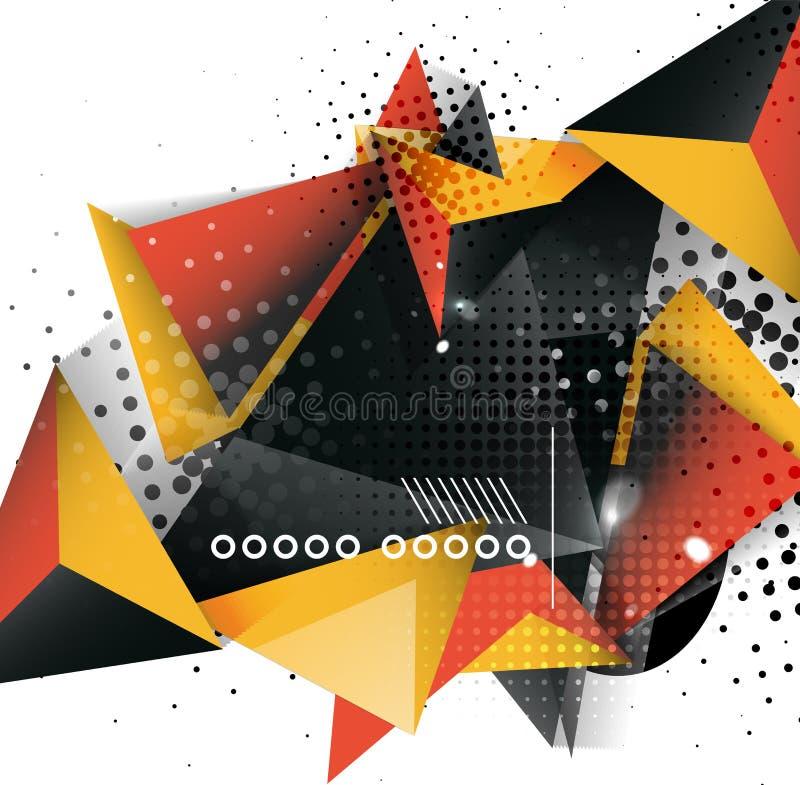 Geometrisch driehoeks 3d ontwerp abstracte achtergrond for Ontwerp 3d