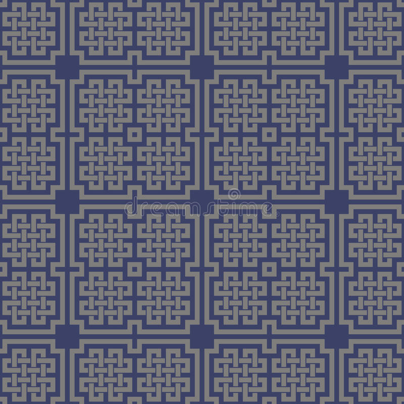 Geometrisch dwars Keltisch naadloos patroon royalty-vrije illustratie