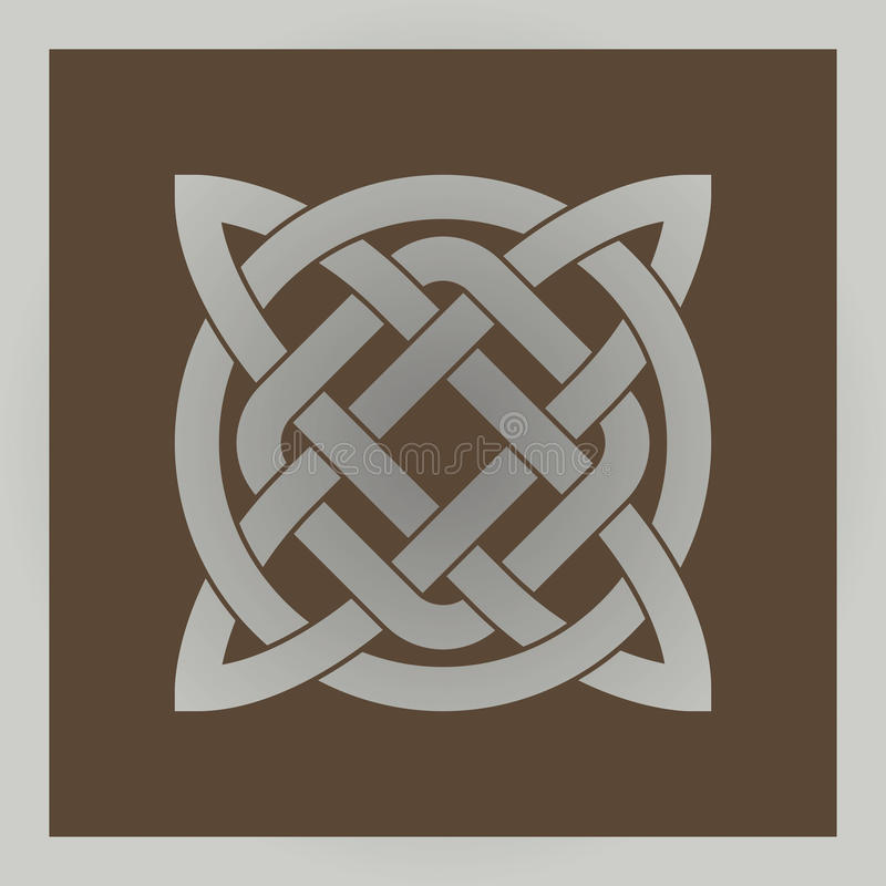 Geometrisch dwars Keltisch symbool royalty-vrije stock foto's