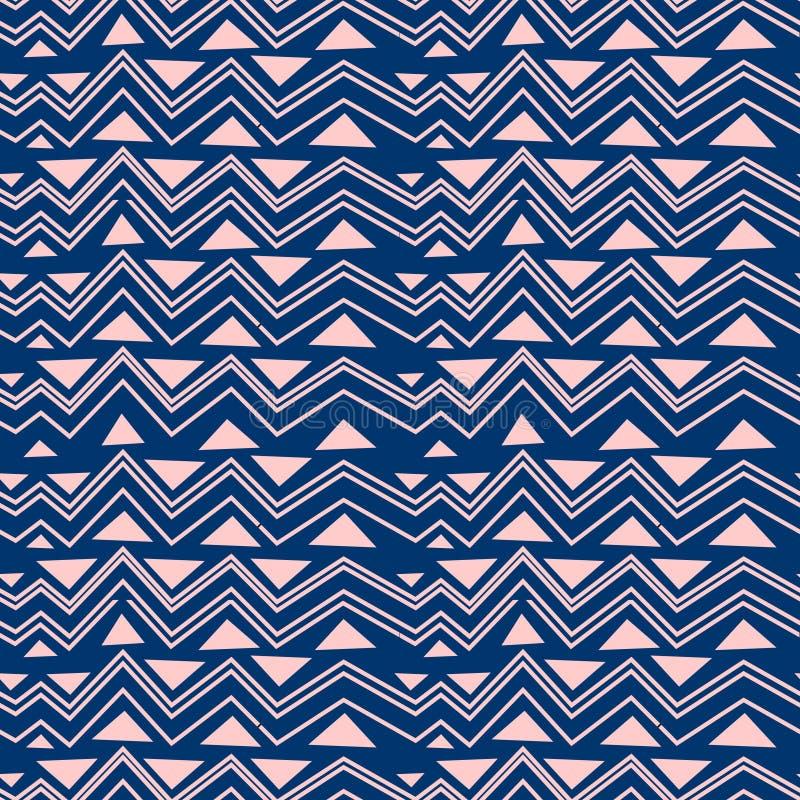 Geometrisch etnisch oosters naadloos patroon traditioneel Ontwerp voor achtergrond, tapijt, behang, kleding, het verpakken, Batik royalty-vrije illustratie