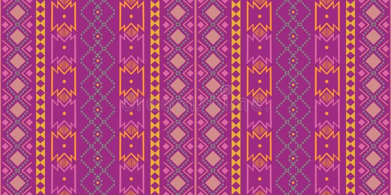 Geometrisch etnisch oosters naadloos patroon traditioneel Ontwerp voor achtergrond, tapijt, behang, kleding, het verpakken, Batik stock illustratie