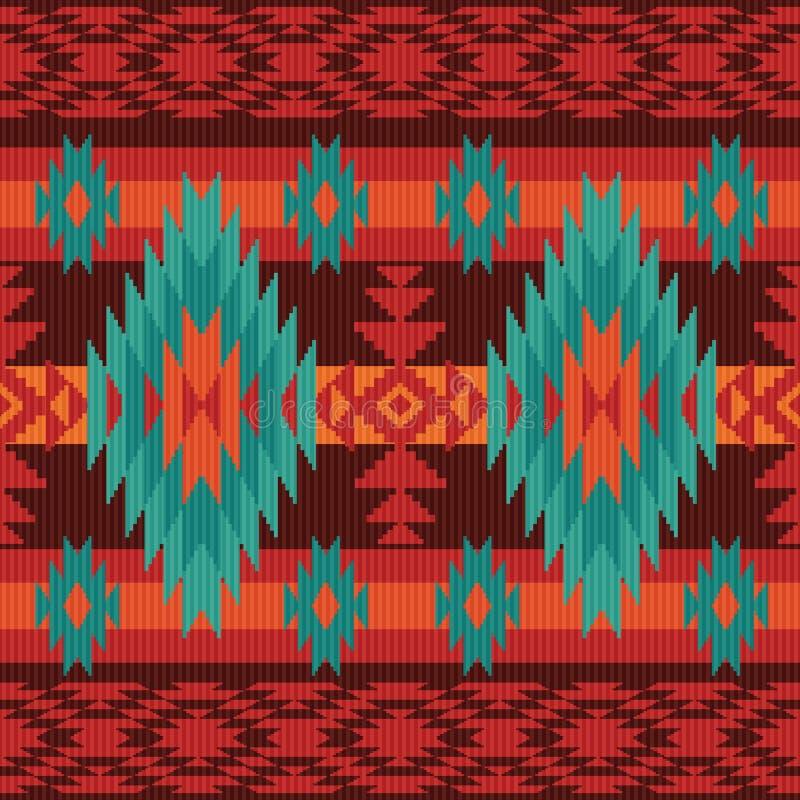 Geometrisch etnisch patroon stock illustratie