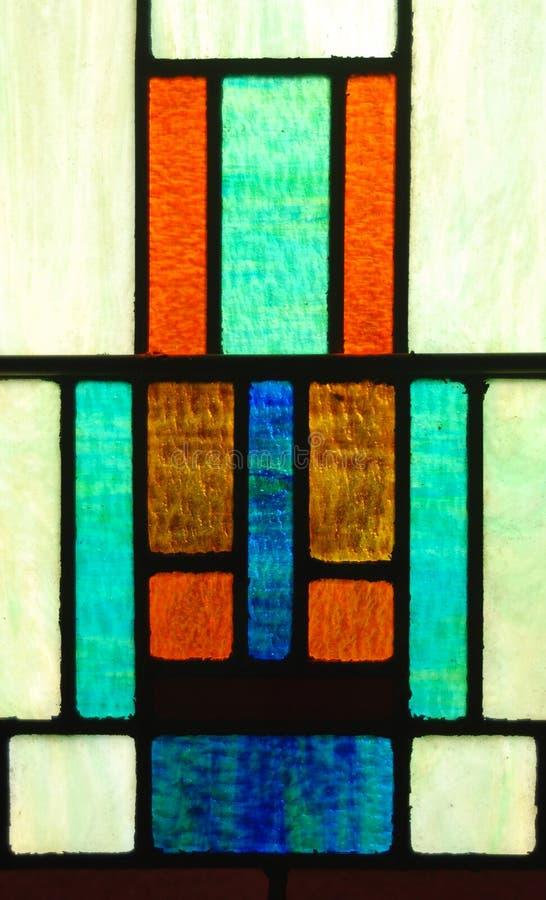 Geometrisch Gebrandschilderd glas stock foto's