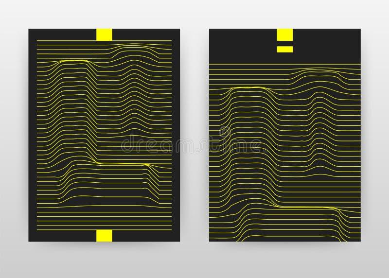 Geometrisch geel l-brief het golven bedrijfsontwerp voor jaarverslag, brochure, vlieger, affiche Geometrische l-alfabet golvende  royalty-vrije illustratie