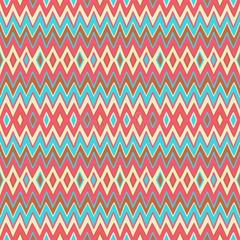 Geometrisch gestreept patroon stock illustratie