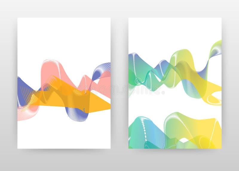 Geometrisch gevoerd golven bedrijfsontwerp voor jaarverslag, brochure, vlieger, affiche De geometrische achtergrond van gradiënt  stock illustratie