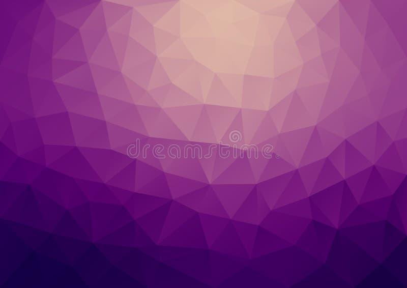 Geometrisch gradiënt Purper Patroon vector illustratie
