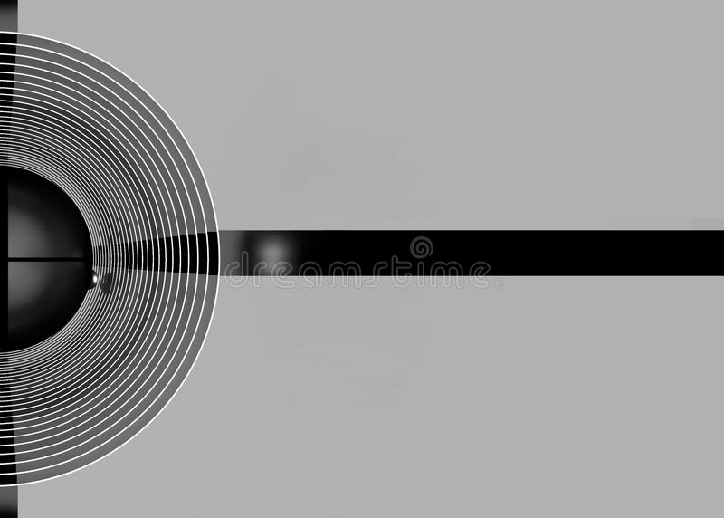 Geometrisch grijs halve cirkelsbehang als achtergrond Zilveren abstra vector illustratie