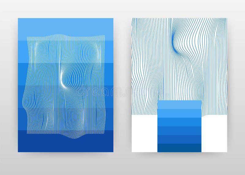 Geometrisch het golven lijnen textire bedrijfsontwerp voor jaarverslag, brochure, affiche Meetkunde geweven het golven vector als stock illustratie