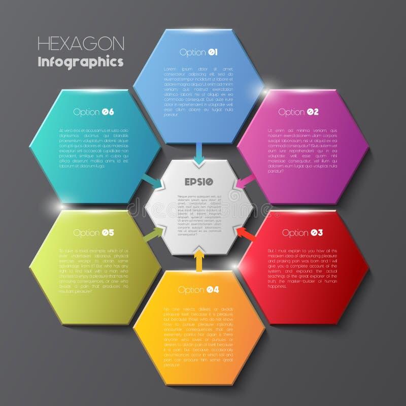 Geometrisch hexagon infographic concept vector illustratie