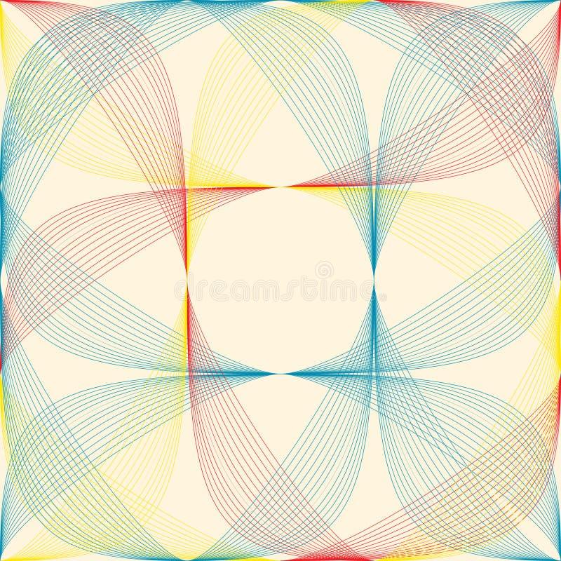Geometrisch kleurenpatroon vector illustratie