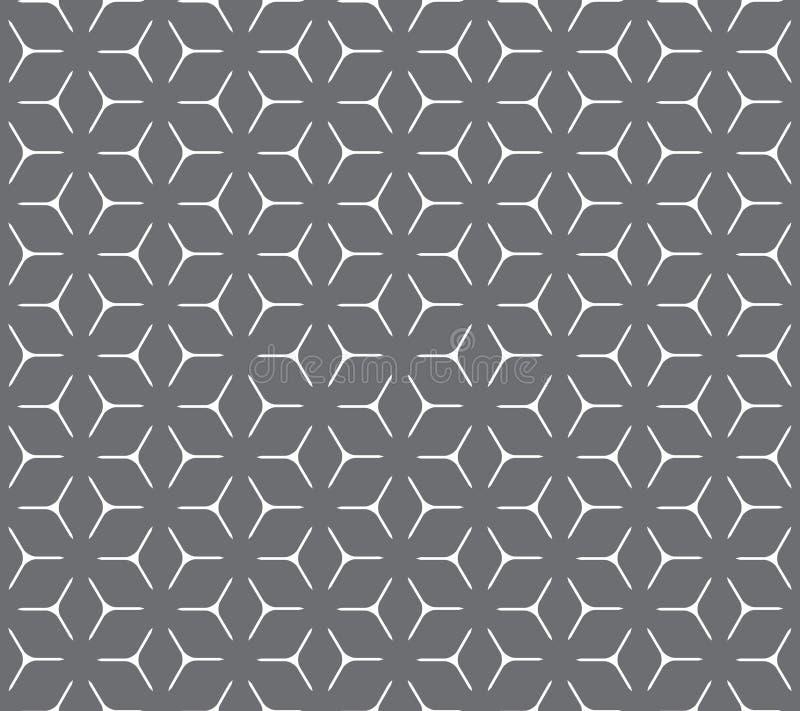 Geometrisch kubiek net naadloos patroon stock illustratie