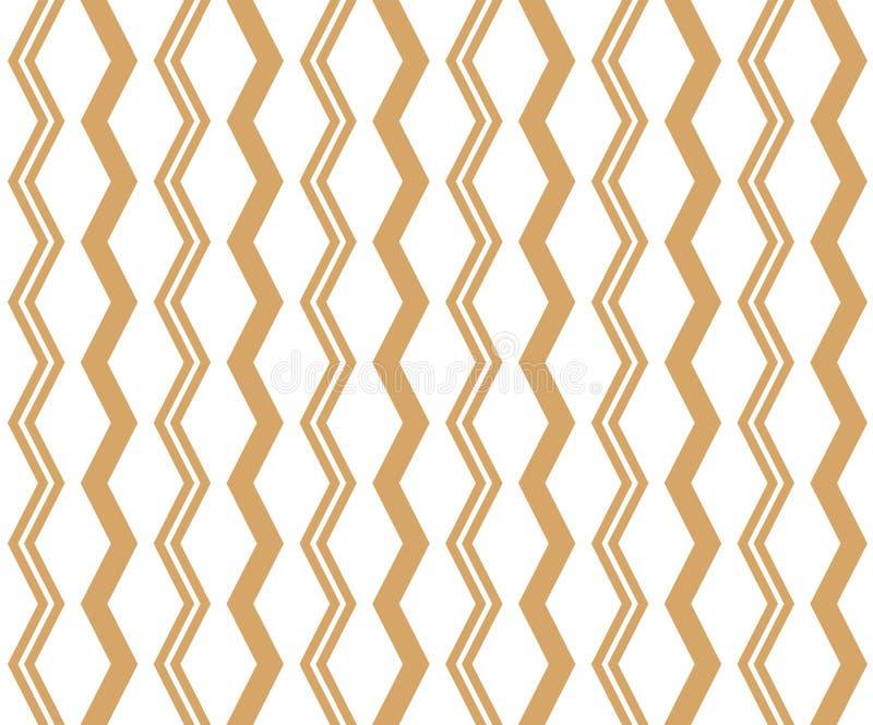 Geometrisch lineair patroon Vector Ornament voor stof, behang en verpakking Decoratief element voor binnenland en ontwerpproject royalty-vrije illustratie