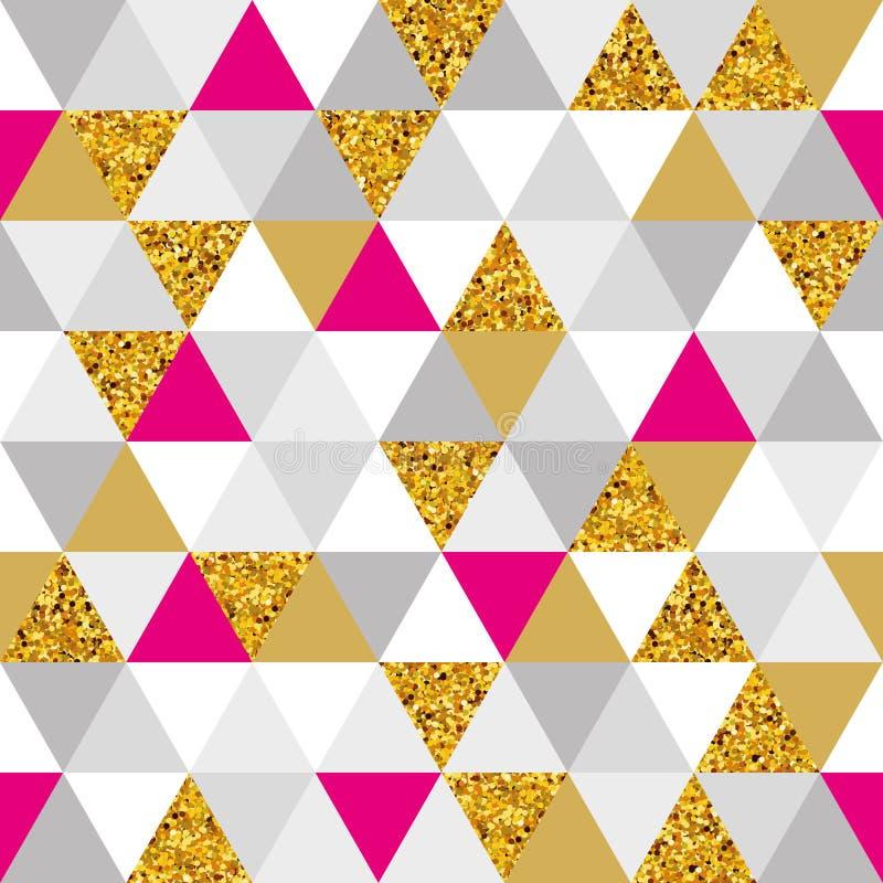 Geometrisch marmeren naadloos patroon stock illustratie