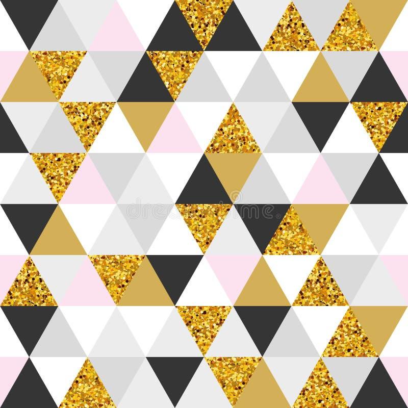 Geometrisch marmeren naadloos patroon royalty-vrije illustratie