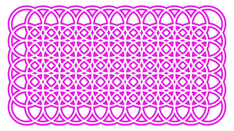 Geometrisch met elkaar verbindend het embleempatroon van de cirkels Grafisch Druk royalty-vrije illustratie