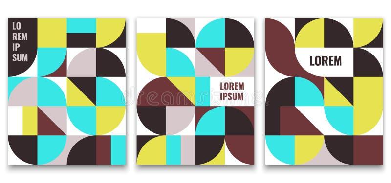 Geometrisch minimalistic patroon stock illustratie