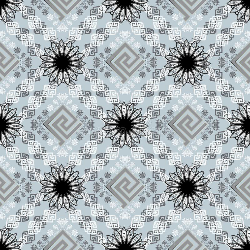 Geometrisch modern sier Grieks zeer belangrijk meanders vector naadloos patroon De samenvatting vormde etnische stijlachtergrond  stock illustratie