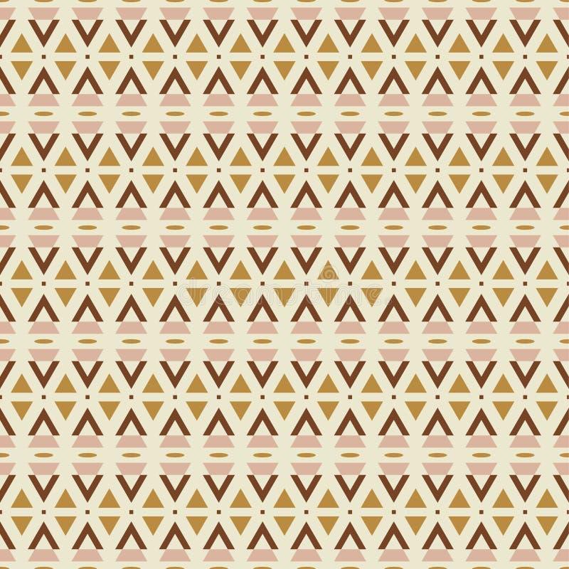 Geometrisch naadloos neutraal kalm de kleurenpalet van de patroontextuur voor de druk van het huisdecor vector illustratie