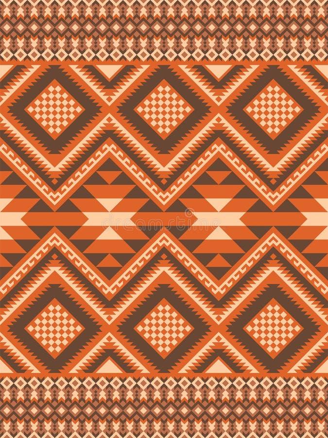 Geometrisch naadloos patroon in etnische stijl vector illustratie