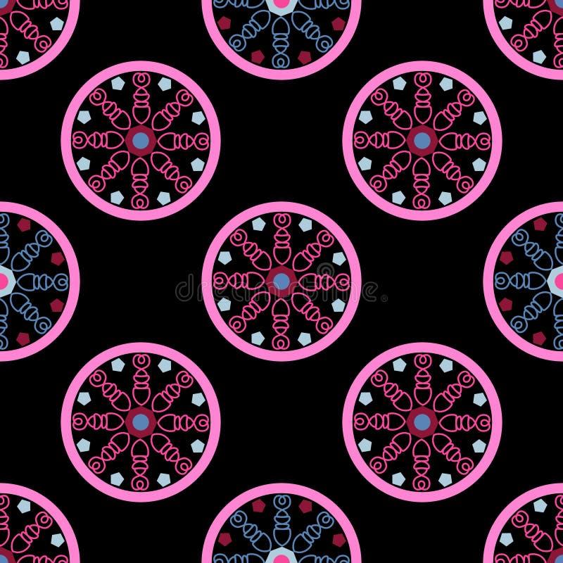Geometrisch naadloos patroon, na een ongebruikelijk patroon vector illustratie