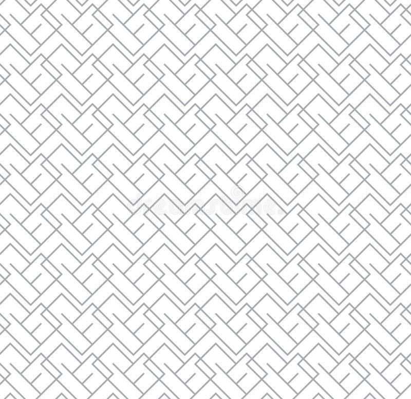 Geometrisch Naadloos Vectorpatroon voor Webachtergrond stock foto