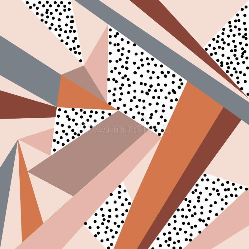 Geometrisch ornament Abstracte achtergrond - kleurrijke abstracte vormen royalty-vrije illustratie
