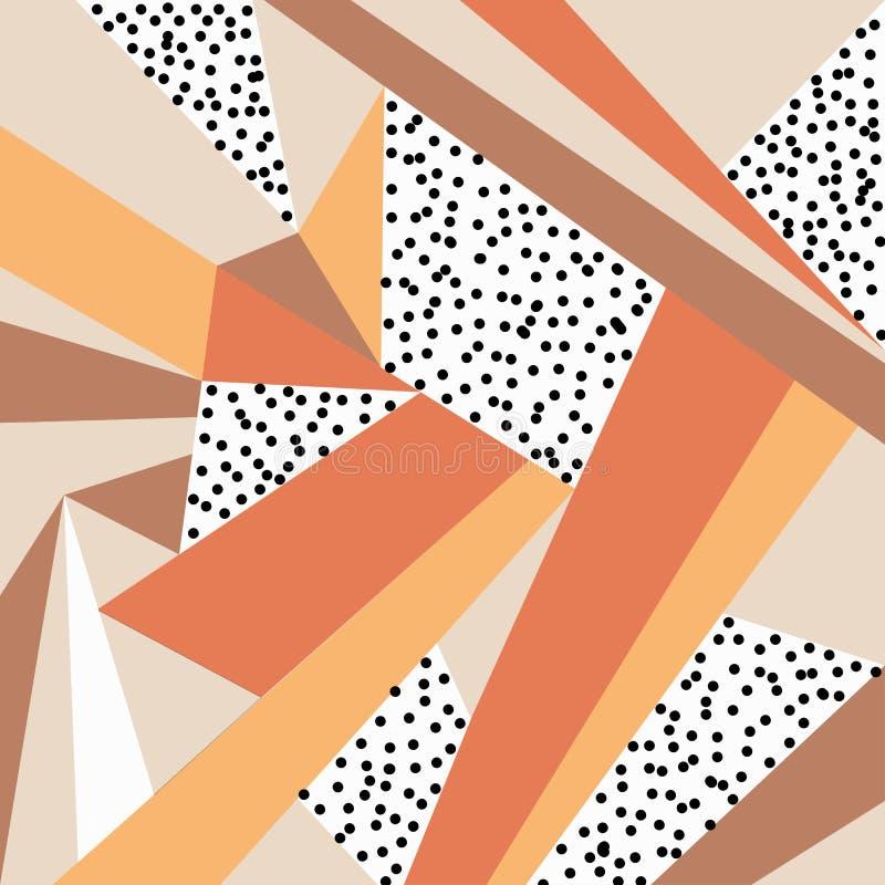 Geometrisch ornament Abstracte achtergrond - kleurrijke abstracte vormen stock illustratie