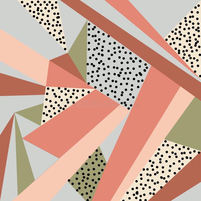 Geometrisch ornament Abstracte achtergrond - kleurrijke abstracte vormen vector illustratie
