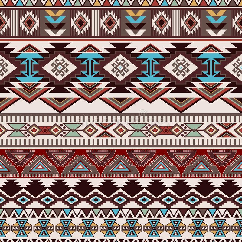 Geometrisch ornament voor keramiek, behang, textiel, Web, kaarten Etnisch patroon Grensornament Inheems Amerikaans ontwerp vector illustratie