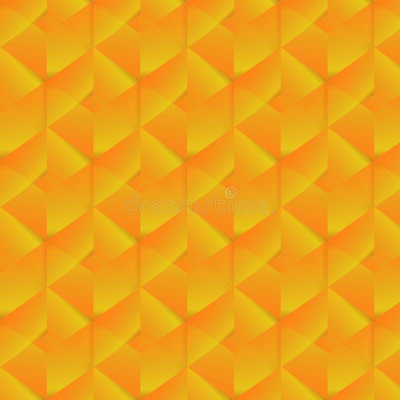 Geometrisch patroon met oranje rechthoeken Vector illustratie royalty-vrije illustratie