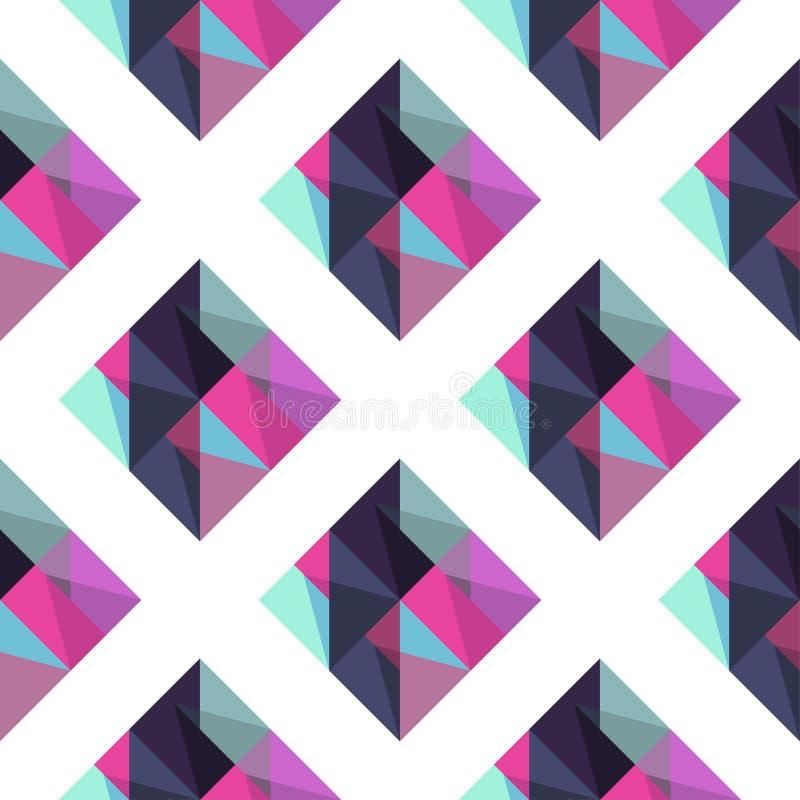 Geometrisch patroon met rombus royalty-vrije illustratie