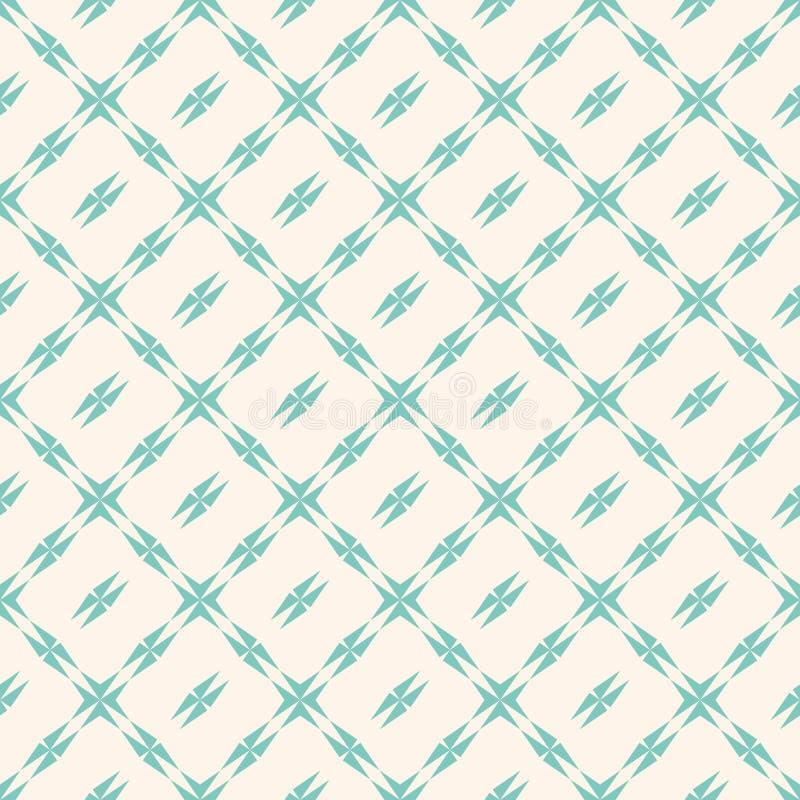 Geometrisch patroon met vierkant net Retro uitstekende illustratie background vector illustratie