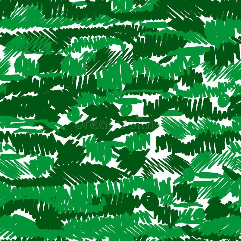 Geometrisch patroon met willekeurige snijdende lijnen Chaotische ruwe textuur stock illustratie