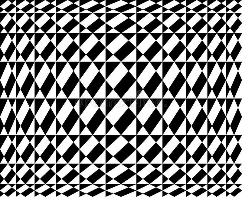 Geometrisch patroon in op kunstontwerp - Vectorart. vector illustratie