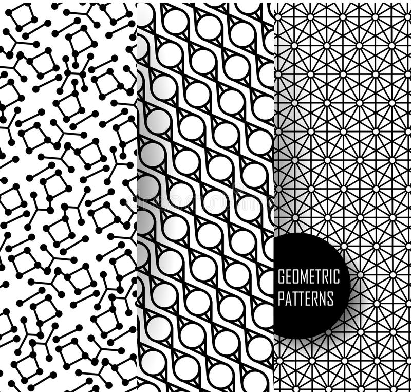 Geometrisch patroon in op kunstontwerp Zwarte en vector illustratie
