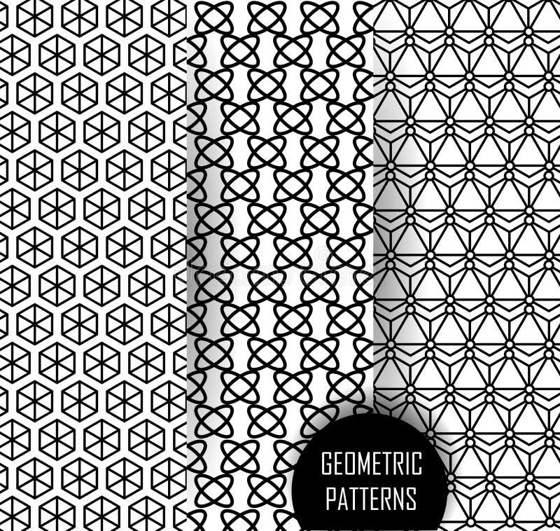Geometrisch patroon in op kunstontwerp Zwarte en stock illustratie
