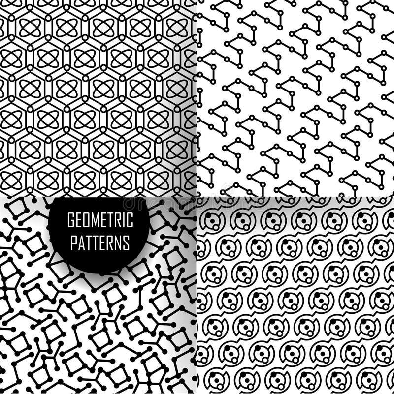 Geometrisch patroon in op kunstontwerp Zwarte en royalty-vrije illustratie