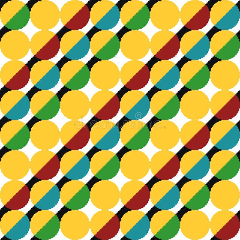 Geometrisch patroon van cirkels vector illustratie