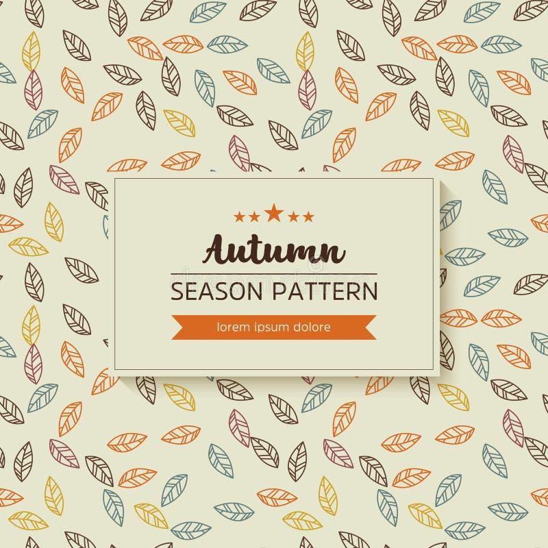 Geometrisch patroon van de herfstbladeren en takjes vector illustratie