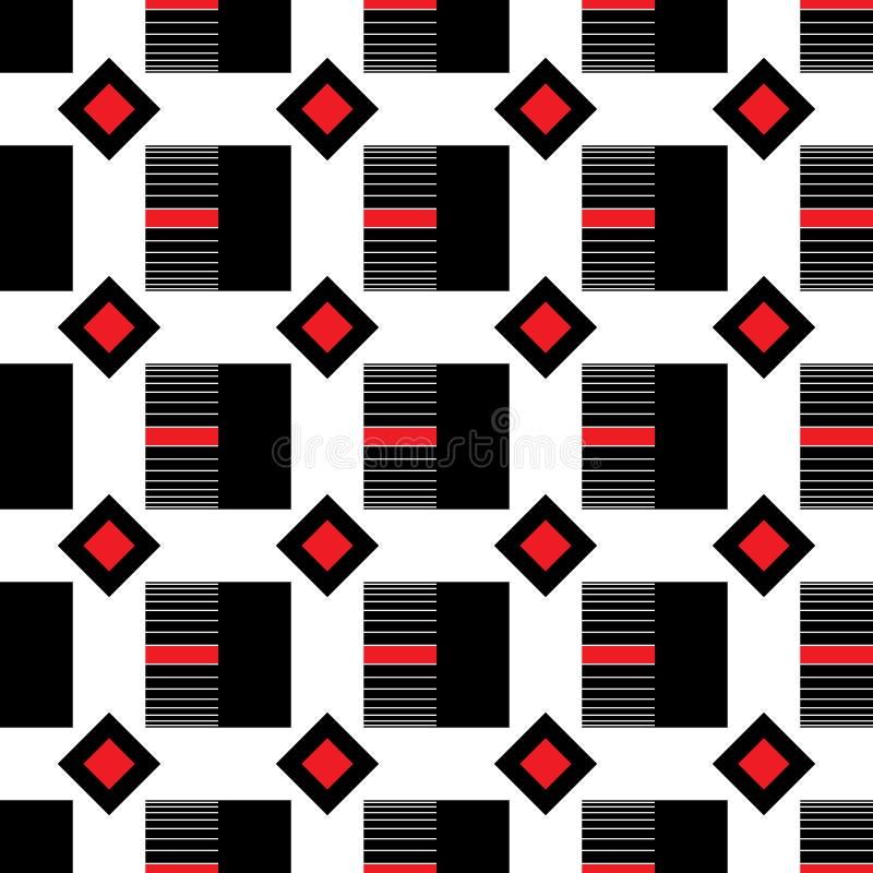 Geometrisch patroon van vierkanten en ruiten stock illustratie