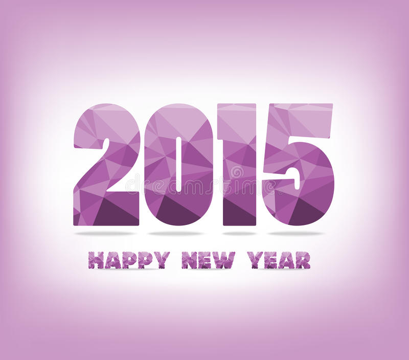 Geometrisch purper gelukkig nieuw jaar stock illustratie