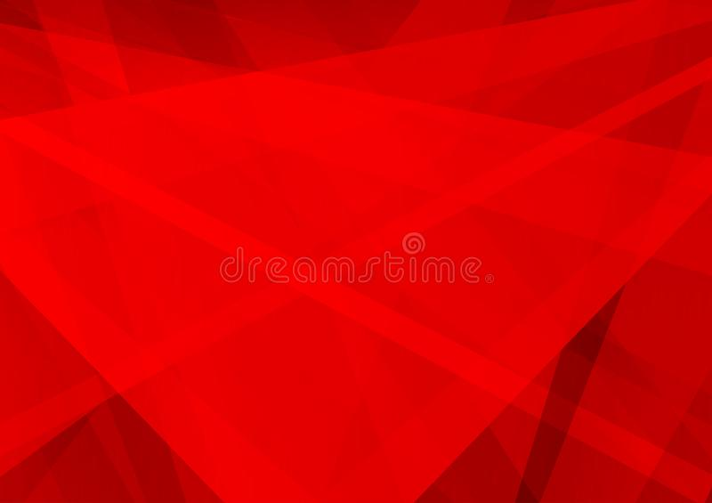 Geometrisch rode kleuren abstract modern ontwerp als achtergrond, Vectorillustratie stock illustratie