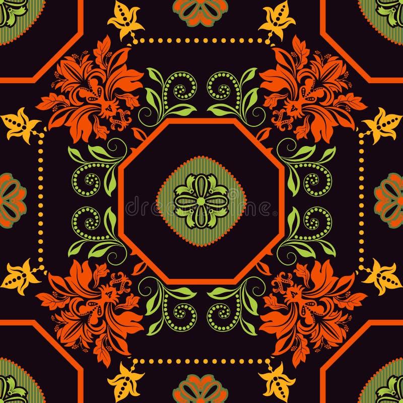 Geometrisch tegelpatroon Sier achtergrond royalty-vrije illustratie
