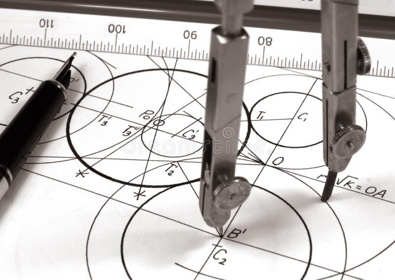 Geometrisch trek stock afbeelding