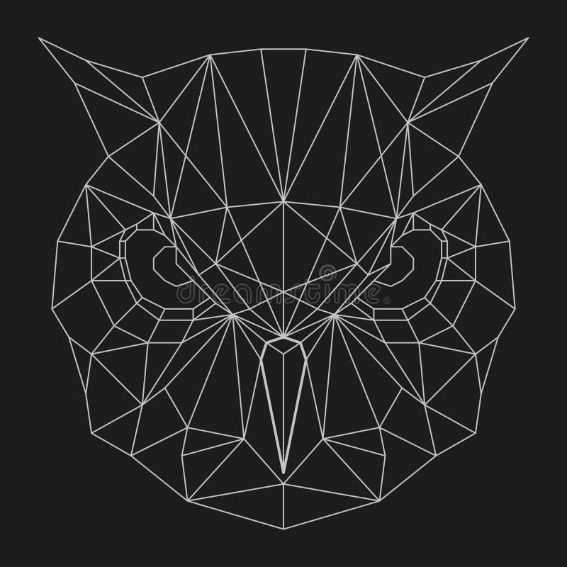 Geometrisch uilhoofd stock illustratie