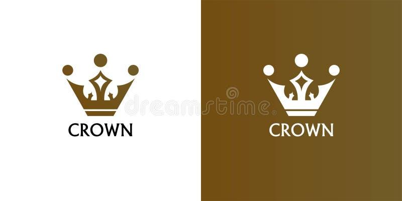 Geometrisch Uitstekend Creatief het ontwerp vectormalplaatje van het Kroon abstract Embleem Uitstekend het conceptensymbool Logot royalty-vrije illustratie
