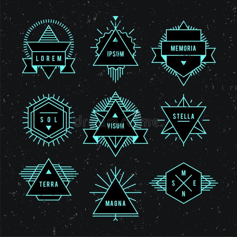 Geometrisch uitstekend etiket royalty-vrije illustratie