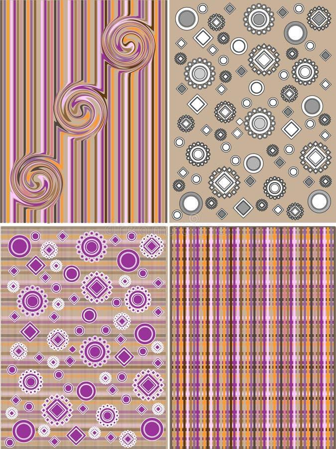 Geometrisch und Blumenmuster lizenzfreies stockbild