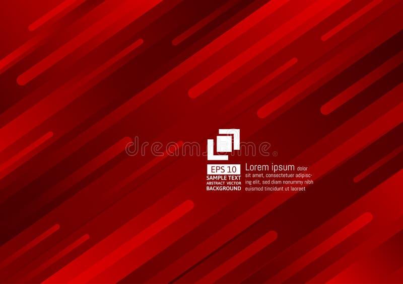 Geometrisch van de elementen donkerrood kleur abstract modern ontwerp als achtergrond royalty-vrije illustratie